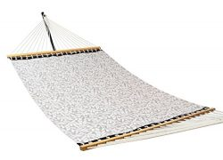 Patio Watcher 14 FT Quick Dry Poolside Rope Hammock Solid Wood Spreader Outdoor Patio Yard Hammo ...