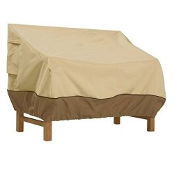 Classic Accessories Veranda Patio Bench Cover – Durable and Water Resistant Patio Set Cove ...