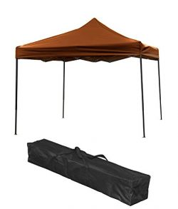 Trademark Innovations Lightweight & Portable Canopy Cover Tent Set, 10′ x 10′, Brown