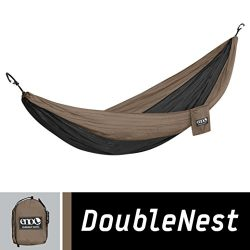 ENO Eagles Nest Outfitters – DoubleNest Hammock, Portable Hammock for Two, Khaki/Black
