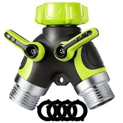 VicTsing Y Hose Connector, 2 Way Hose Splitter with 3/4″ Connector and Sturdy Construction ...