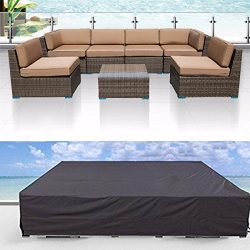 Veronica Patio Cover Outdoor Furniture Lounge Porch Sofa Waterproof Dust Proof Protective Lovese ...