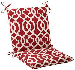 Pillow Perfect Indoor/Outdoor New Geo Squared Chair Cushion, Red