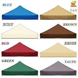 STRONG CAMEL Ez pop Up Canopy Replacement Top instant 10'X10′ gazebo EZ canopy Cover ...