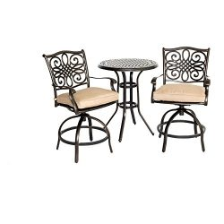 Hanover Traditions 3 Piece High-Dining Bistro Set