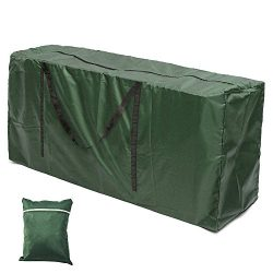 Hootech Patio Cushion Storage Bag Waterproof Cushion Cover Outdoor Rectangle Furniture Seat Prot ...