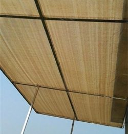 Patio Shade Fabric for Greenhouse,Pond Cover,Pergola Cover,Patio Side Fence 6x12ft Beige