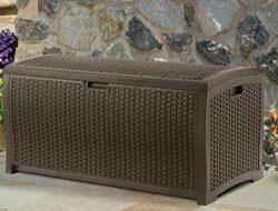 Home Storage Solutions, Resin Wicker Deck Box,Patio Cushion Storage And Garden Tools Organizer,  ...