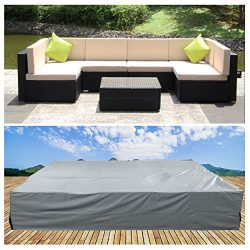 U-MAX Patio Table & Chair Set Cover – Premium Outdoor Furniture Cover,Durable and Wate ...