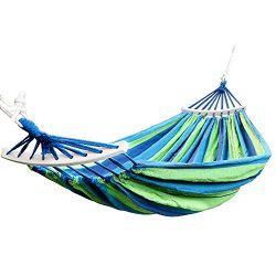 Rusee Double 2 Person Cotton Fabric Canvas Travel Hammocks 450lbs Ultralight Camping Hammock Por ...