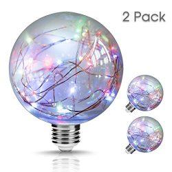 LOHAS LED Globe Lights G30 Bulb, Multi-Colored Fairy Lights, contain Firefly Light Rope, 10Ft/3M ...