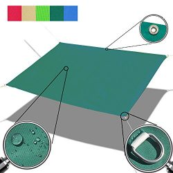 Alion Home Custom Sizes Straight Edge Waterproof Woven Sun Shade Sail for Car Tent, Carport, Can ...