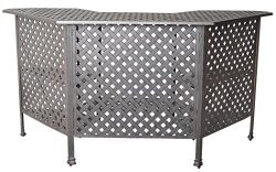 K&B PATIO LD1031W Nassau Bar Table, Antique Bronze