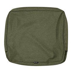 Classic Accessories Montlake Patio Back Cushion Slip Cover, Heather Fern, 25x20x4