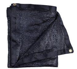 E.share 40% 20'X 48′ Black Shade Cloth Taped Edge with Grommets Sun Net Sun Mesh Sha ...