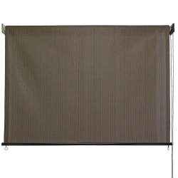 Outdoor Roller Sun Shade, 8-Feet by 6-Feet, Cabo Sand