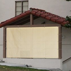 Alion Home Sun Shade Privacy Panel with Grommets on 4 Sides for Patio, Awning, Window Cover, Per ...