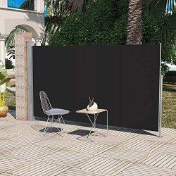 Daonanba Practical Patio Terrace Useful Side Awning 63″x118″ Black