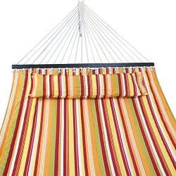 ZENY Hammock Quilted Fabric Double Size Spreader Bar Heavy Duty Brand New Stylish 450lbs Capacit ...