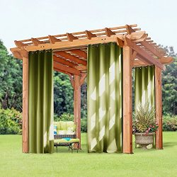 Blackout Outdoor Shades for Patio – PONY DANCE Window Treatments Thermal Insulated Solid G ...