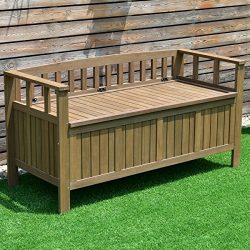 70 Gallon 2-in-1 Outdoor Garden Bench Storage Deck Box – By Choice Products