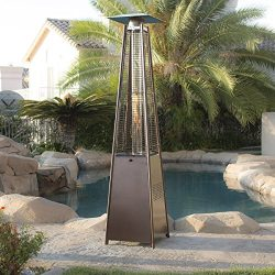 Belleze Patio Heater – Pyramid w/ Dancing Flame, CSA Certified, 42,000 BTU- Hammered Bronze
