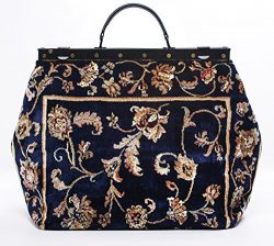 Carpet Bag SAC-VOYAGE Pergola Navy – Magical Mary Poppins Vintage-Style Carpet Bag with le ...