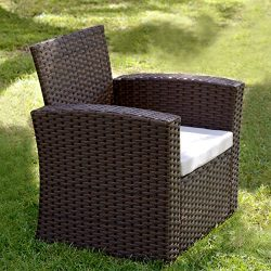 Innovex OD871RAB Prima Single Sofa Outdoor Patio Furniture, Large, Auburn