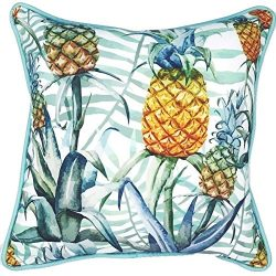Sea By Day UV / Water Resistant Premium Outdoor Pillows Cushions for Patio Furniture (Peaceful P ...