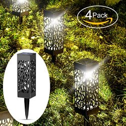 Solar Lights Outdoor Garden Powered Path Lighting Solar Glow Led Pathway Lights Front Gate Brigh ...