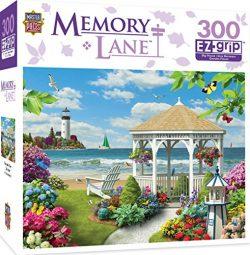 MasterPieces Memory Lane Oceanside View – Gazebo by the Ocean Large 300 Piece EZ Grip Jigs ...