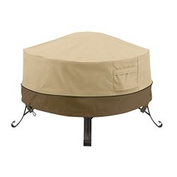 Classic Accessories Veranda Full Coverage Round Fire Pit/Table Cover – Durable and Water-R ...