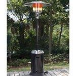 60368 – Fire Sense – 46,000 BTU Stainless Steel & Black Commercial Patio Heater