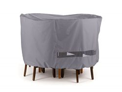 Round Bar Table/Chair Set Cover Elite Charcoal