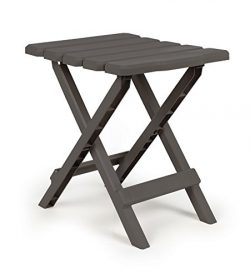 Camco 51881 Regular Quick Folding Adirondack Side Table – Charcoal