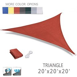 LOVE STORY 20′ x 20′ x 20′ Triangle Terra UV Block Sun Shade Sail Perfect for  ...