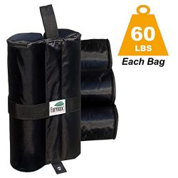 Eurmax Deluxe Canopy Weights Sand Bag Leg Weights Dual Zipper Partition 1680D Polyester 60 lbs/p ...