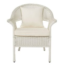 Brylanehome Roma All-Weather Wicker Stacking Chair (White,0)