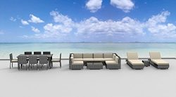 Urban Furnishing.net – 19 Piece Outdoor Dining and Sofa Sectional Patio Furniture Set
