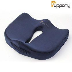 Puppony Coccyx Orthopedic Comfort Memory Foam Seat Cushion Pillow for Car Driver Office Chair Wh ...