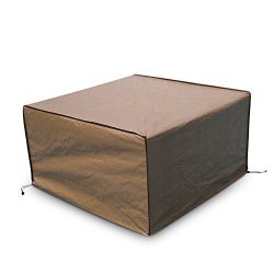 Abba Patio Square Fire Pit/Table Cover Outdoor Cover Waterproof, 43-Inch, Brown