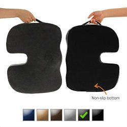 Dr. Ergo | Chiropractor Grade | Firm Orthopedic Memory Foam Seat Cushion | Coccyx, Tailbone and  ...