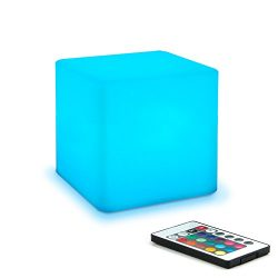 Mr.Go 4-inch Dimmable LED Night Light Mood Lamp for Kids and Adults – 16 RGB Colors – ...