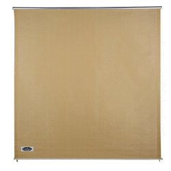 Cool Area Exterior Roller Shade Sunshade Blinds 6′ x 6′ for Patio Pergola Porch, Sand