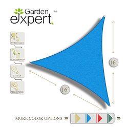 Garden EXPERT 16'x16'x16′ Triangle Knitting Sun Shade Sail for Garden,Outdoor  ...