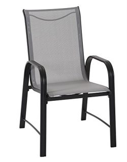 Cosco 88645GLGE Paloma Patio Steel Frame, Light Gray, Dining Chairs