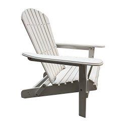 Carabelle Patio Outdoor Lawn & Garden Deck Villaret Adirondack Wood Chair (White)
