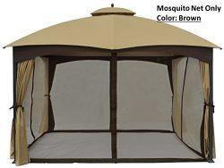 Universal 10′ x 12′ Gazebo Replacement Mosquito Netting (Brown)