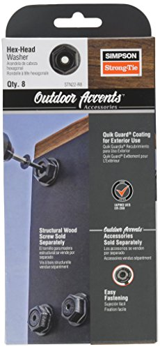 Simpson Strong Tie Outdoor Accents Simpson STN22-R8 Black Powder-Coat Hex-Head Washer (8-Pack)