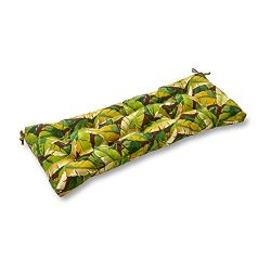 Greendale Home Fashions Indoor/Outdoor Swing/Bench Cushion, Palm Green